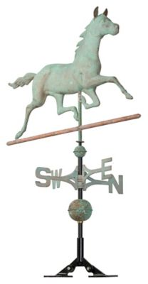 Classic Directions Copper Horse Weathervane - Verdigris