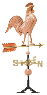 Classic Directions Copper Rooster Weathervane - Polished