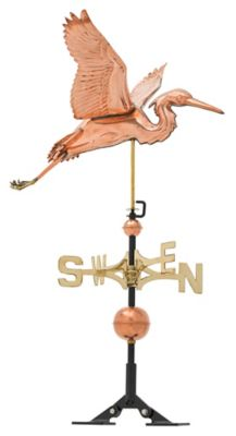 Classic Directions Copper Heron Weathervane - Polished