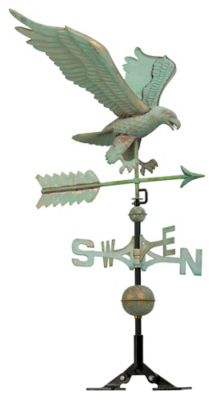 Copper Eagle Weathervane - Verdigris