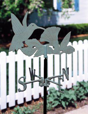 Garden Directions Hummingbird Garden Weathervane - Verdigris