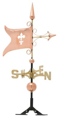 Classic Directions Copper Banner Weathervane - Polished