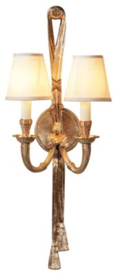 Tassel Twist 2-Light Wall Sconce - Antique Patina