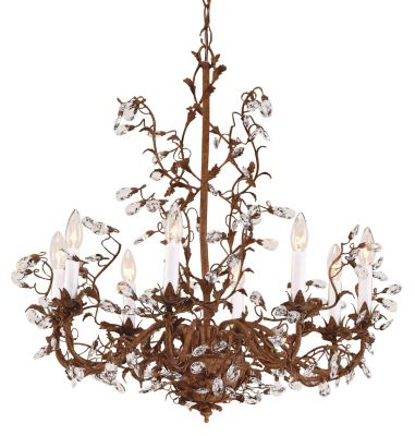 Little Crystals 8-Light Chandelier - Iron & Brass
