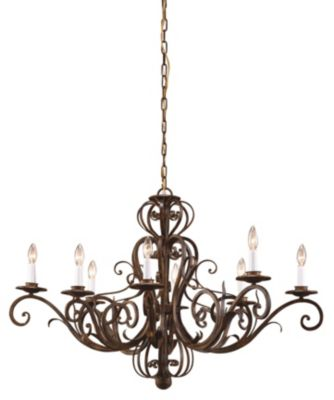 Iron 8-Light Oval Chandelier - Worn Iron