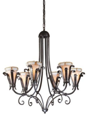 Etruscan Iron 6-Light Chandelier - Finished Iron