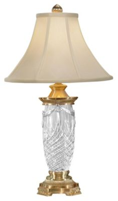 Brass Draped Crystal 28