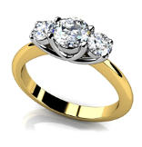14K Solitaire Engagement Ring