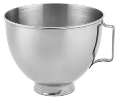 4.5-Quart Mixing Bowl with Handle for Tilt-Head Stand Mixers - Polished Stainless Steel