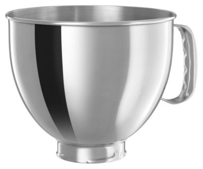 5-Quart Mixing Bowl with Handle for Tilt-Head Stand Mixers - Polished Stainless Steel
