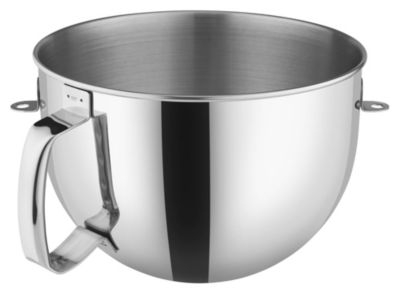6-Quart Mixing Bowl for Bowl-Lift Stand Mixers with Comfort Handle - Polished Stainless Steel