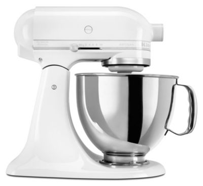 Artisan® 5-Quart Tilt-Head Stand Mixer - White-on-White