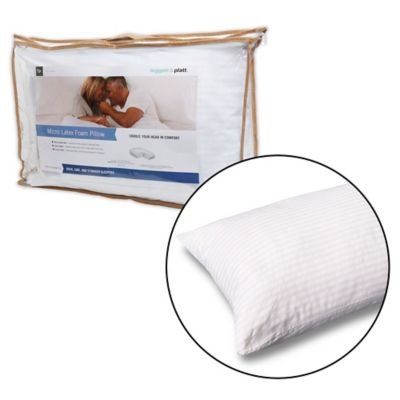 Micro-Cubed Latex Foam Standard/Queen Pillow with Portable Zippered Carrying Case