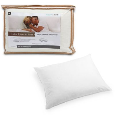 Standard/Queen Feather and Down Pillow with Portable Zippered Carrying Case