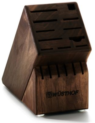 Knife Storage 17-Slot Walnut Block