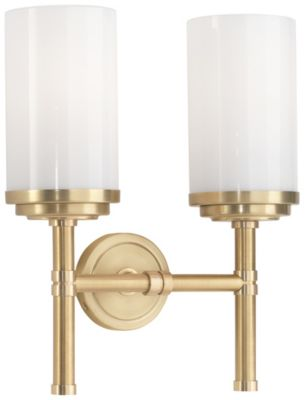 Halo 2-Light Wall Sconce - Brushed Brass