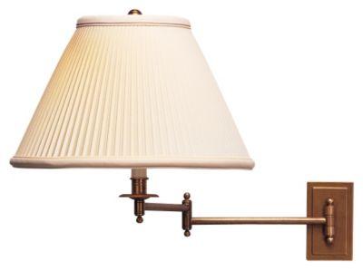 Kinetic Brass 1-Light Wall Swinger Lamp - Natural Brass