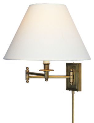 Kinetic Brass 1-Light Wall Swinger Lamp - Natural Brass