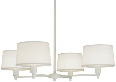 Real Simple 4-Light Chandelier - Stardust White