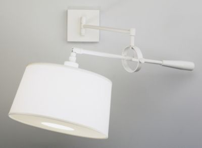 Real Simple 1-Light Wall-Mounted Boom Lamp - Stardust White