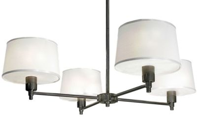 Real Simple 4-Light Chandelier - Gunmetal