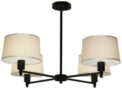 Real Simple 4-Light Chandelier - Matte Black