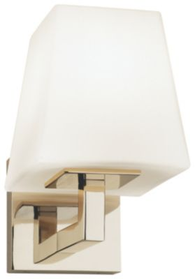 Doughnut 1-Light Single Arm Wall Sconce - Polished Nickel