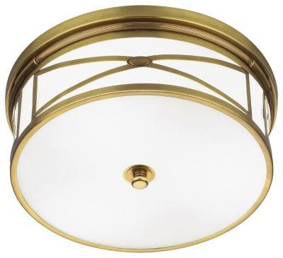 Chase 3-Light Flush Mount - Natural Brass