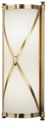 Chase 2-Light Half-Round Sconce - Natural Brass