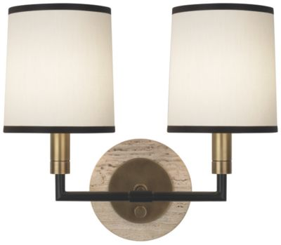 Axis 2-Light Wall Sconce - Aged Natural Brass