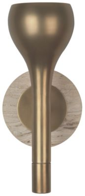 Axis 1-Light Wall Sconce - Aged Natural Brass