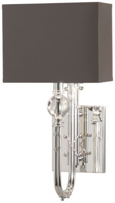 Mary McDonald Ondine Small 1-Light Wall Sconce - Silver Plate