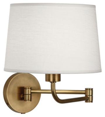 Koleman 1-Light Wall Swinger - Aged Brass