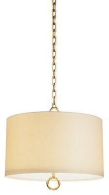 Jonathan Adler Meurice 2-Light Pendant - Antique Natural Brass
