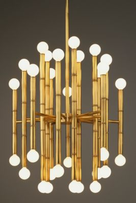 Jonathan Adler Meurice 30-Light Chandelier - Antique Natural Brass