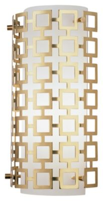 Jonathan Adler Parker 1-Light Wall Sconce - Natural Brass