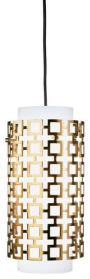 Jonathan Adler Parker 1-Light Pendant - Natural Brass