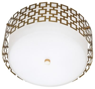 Jonathan Adler Parker 3-Light Flush Mount - Natural Brass