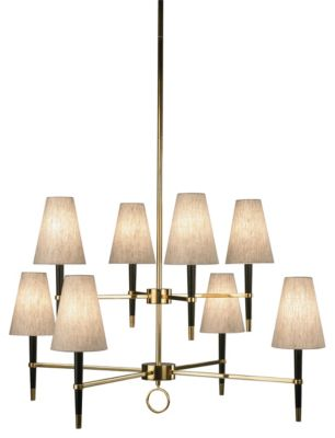 Jonathan Adler Ventana 2-Tier 8-Light Chandelier - Ebony