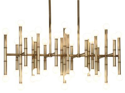 Jonathan Adler Meurice 42-Light Rectangular Chandelier - Natural Brass