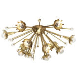 Jonathan Adler Sputnik 12-Light Convertible Flush Mount - Natural Brass