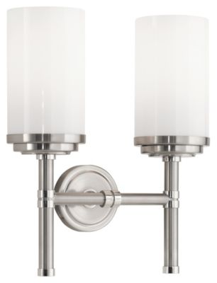 Halo Double Wall Sconce - Brushed Nickel