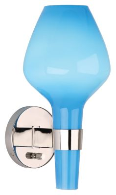 Jonathan Adler Capri 1-Light Wall Sconce - Blue and Polished Nickel
