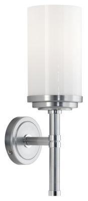 Halo 1-Light Wall Sconce - Brushed Chrome
