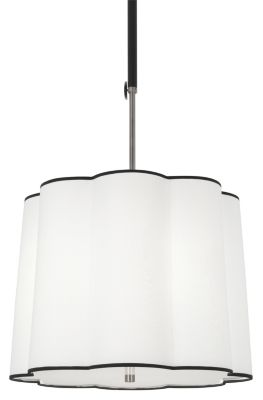 Axis 3-Light Pendant - Blackened Antique Nickel with Matte Black Accents