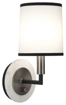 Axis 1-Light Wall Sconce - Blackened Antique Nickel with Matte Black Accents