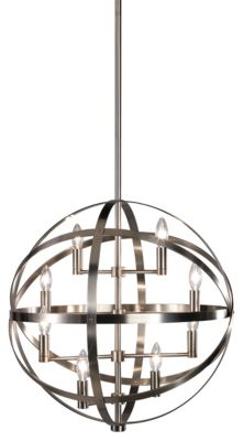 Lucy 8-Light Pendant - Dark Antique Nickel