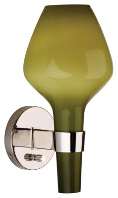 Jonathan Adler Capri 1-Light Wall Sconce - Green and Polished Nickel