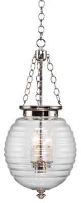 Beehive 3-Light Pendant - Polished Nickel