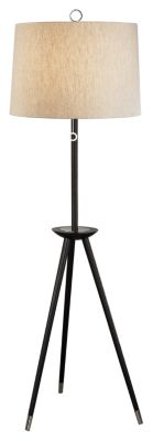 Jonathan Adler Ventana 68-3/4'' Tripod Floor Lamp - Ebony/Polished Nickel